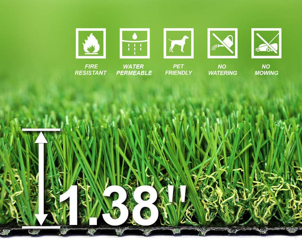 SunVilla SV6.5'X10' Realistic Indoor/Outdoor Artificial Grass/Turf 6.5 FT X 10 FT (65 Square FT)