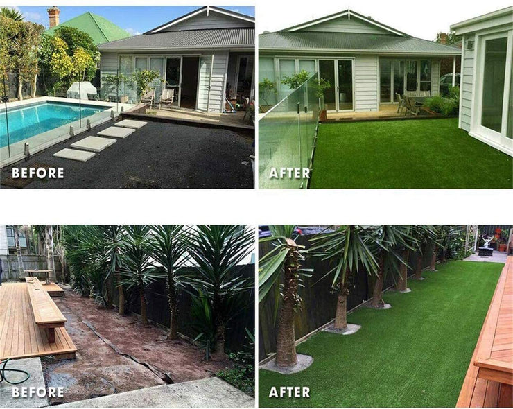 "SunVilla Artificial Grass Realistic 【 Customized Sizes 】 Grass Height 1 3/8"" Indoor/Outdoor Artificial Grass/Turf Many Sizes(7FTX7-82FT)"