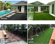 "SunVilla Artificial Grass Realistic 【 Customized Sizes 】 Grass Height 1 3/8"" Indoor/Outdoor Artificial Grass/Turf Many Sizes(10FTX10-82FT)"