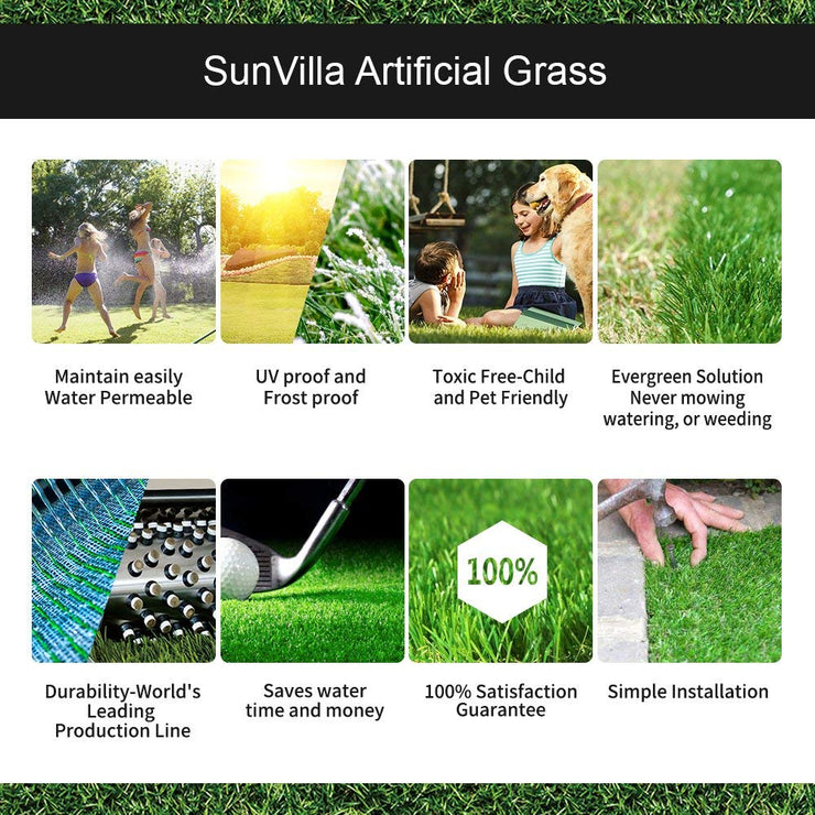 SunVilla Realistic Indoor/Outdoor Artificial Grass/Turf 6 FT x 12 FT (72 Square FT)
