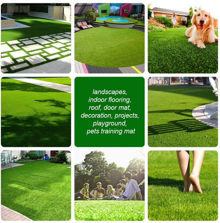 SunVilla 4'X7' Realistic Indoor/Outdoor Artificial Grass/Turf 4 x 7 (28 Square FT), 4' x 7', Olive Green/Yellow