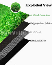 "SunVilla Artificial Grass Realistic 【 Customized Sizes 】 Grass Height 1 3/8"" Indoor/Outdoor Artificial Grass/Turf Many Sizes(5FTX5-82FT)"