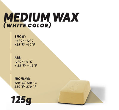 Medium Ski Wax (White) - Glide Nano