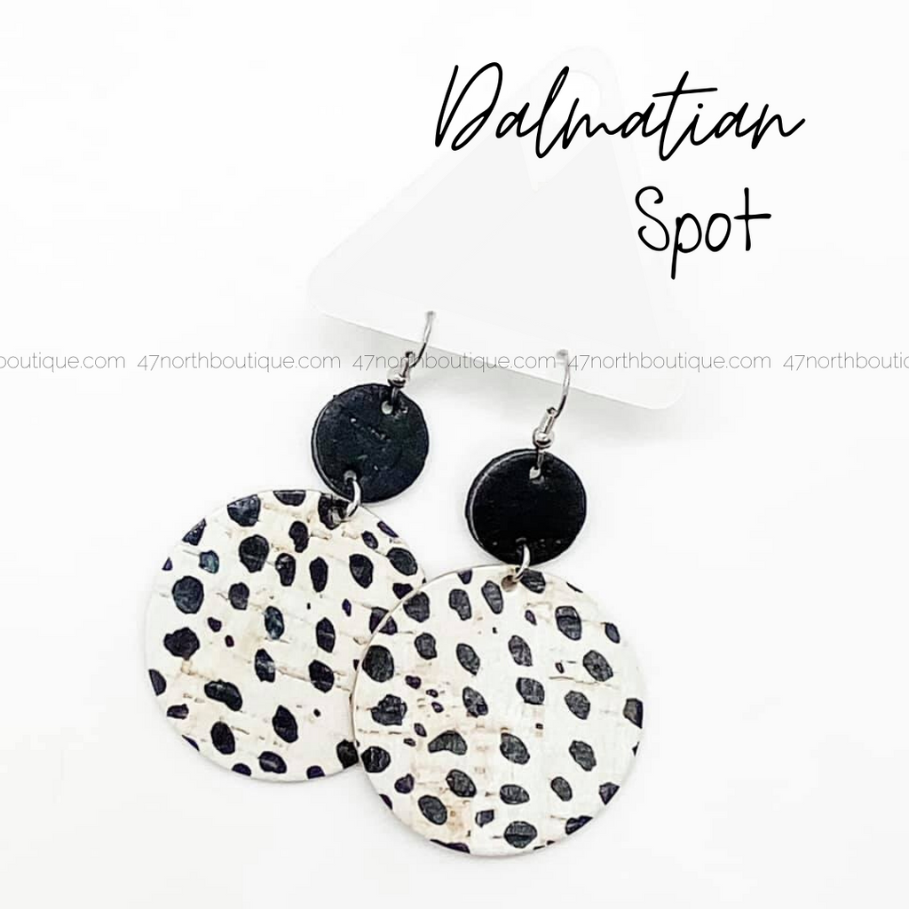 Dalmatian Spot Earrings