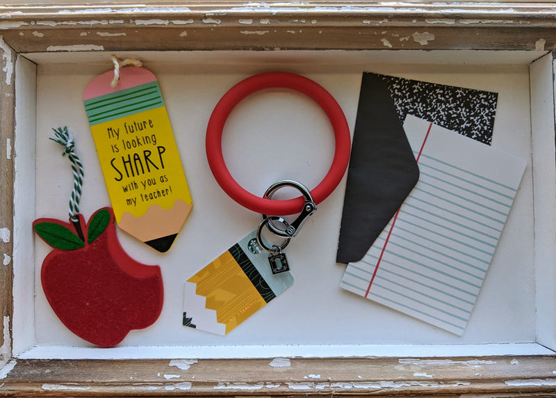 Oventure Solid Color Key Ring + Teacher Tag