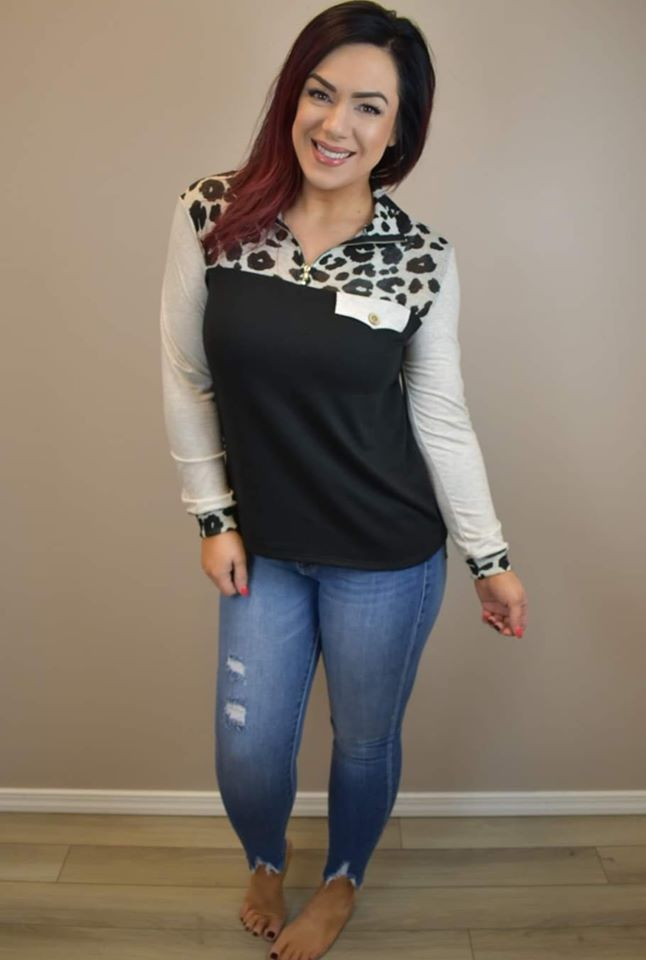 Live Life in Leopard Long Sleeve