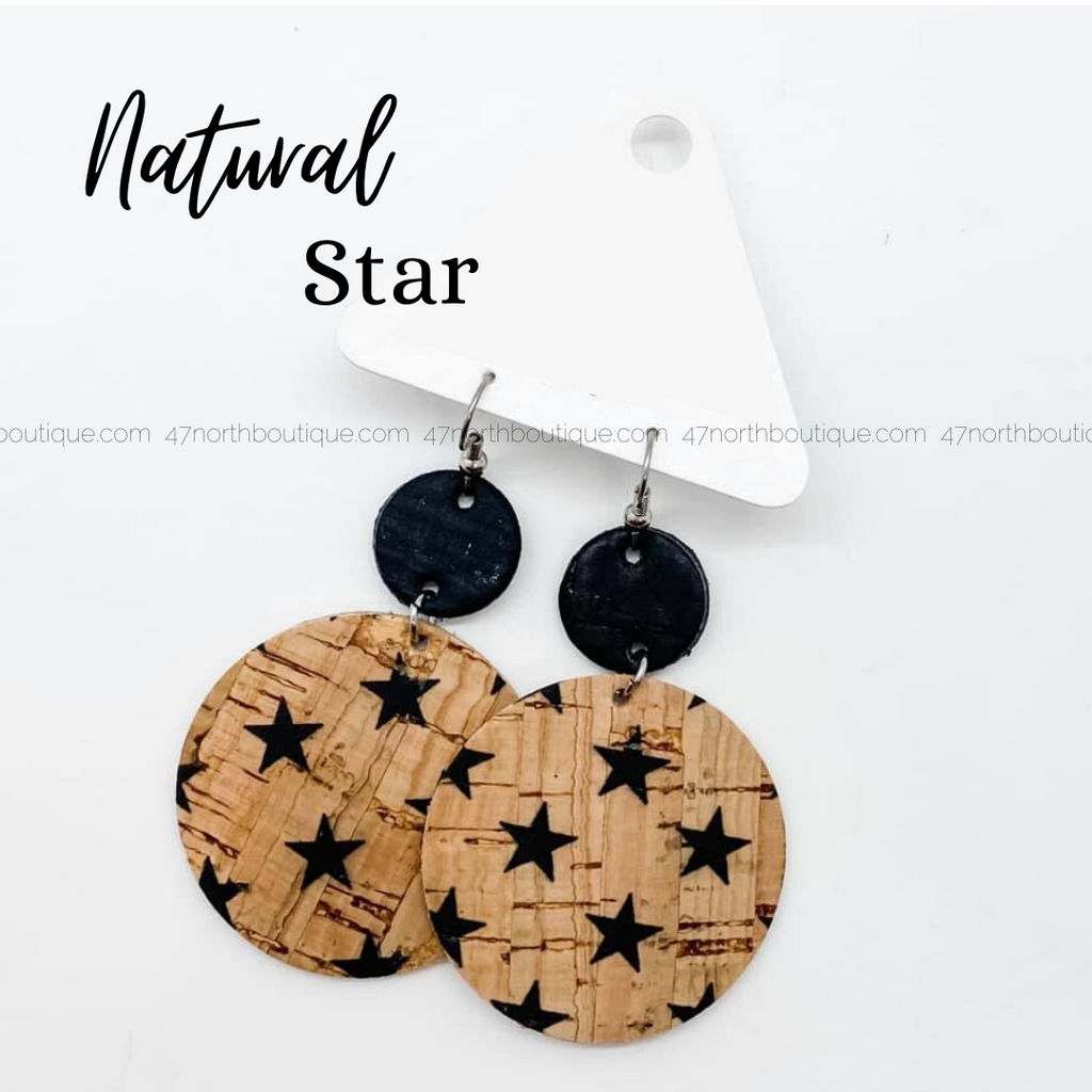 Natural Star Earrings