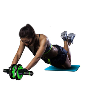Abdominal Ab Roller Home Gym Fitness Gear Abs Trainer with Mat Double Wheel Machine Muscle Exercise Workout Equipment