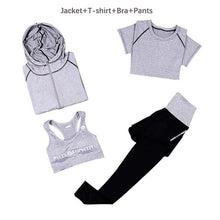 Load image into Gallery viewer, Women Yoga Set Slim Breathable Fitness Clothes Outdoor Gym Run Tracksuit Workout Yoga Suit XL Sportwear Sports Outfit For Female