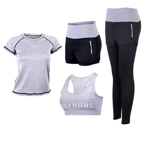 Women Yoga Set Slim Breathable Fitness Clothes Outdoor Gym Run Tracksuit Workout Yoga Suit XL Sportwear Sports Outfit For Female