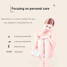 Load image into Gallery viewer, Home Hold Depilatory Laser Mini Hair Epilator Permanent Hair Removal IPL System Shot Light Pulses Whole Body Hair Remover