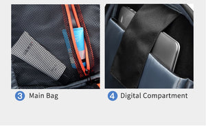 Travel Bag Waterproof USB charging Male Laptop Casual Travel  Backpack