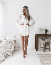 Load image into Gallery viewer, Women Summer Tunic Dress V Neck Casual Loose Flowy Swing Shift Dresses