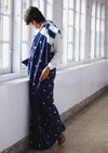 Naturally Dyed Shibori Silk Saree - Kumo