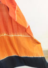Naturally Dyed Shibori Silk Saree - Colour Block