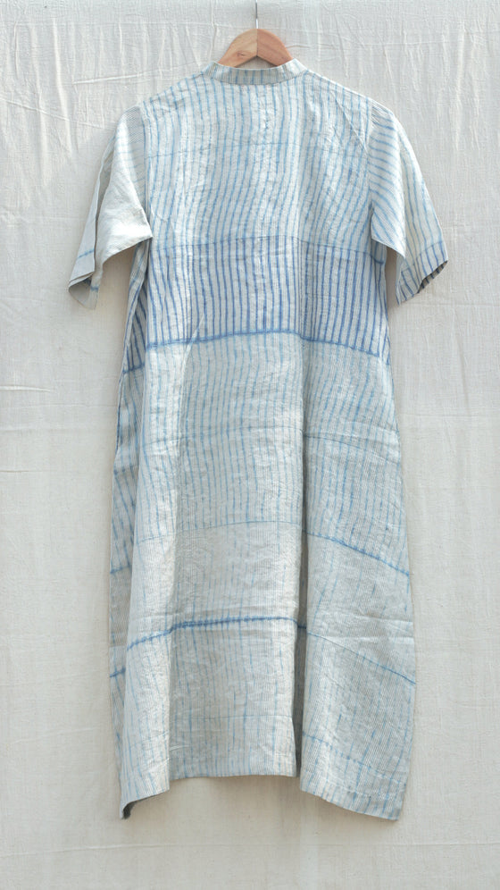 Pale blue Metallic Arashi Kurta