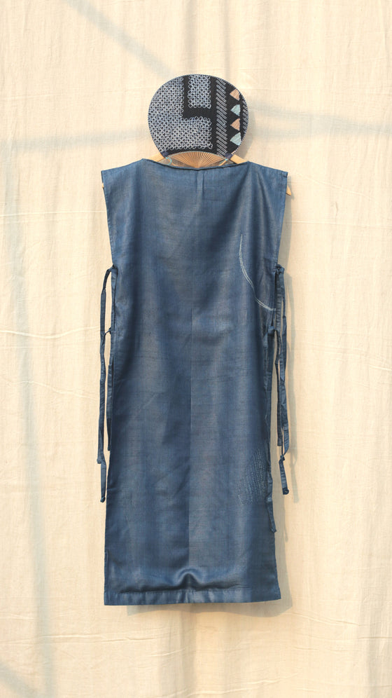 Naturally Dyed Slip Dress-Indigo
