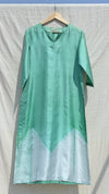 Sea-green Arashi Silk Kurta