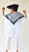 Black-white Silk Shibori Shirt