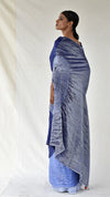 Blue Ombre Metallic Handsfree Saree