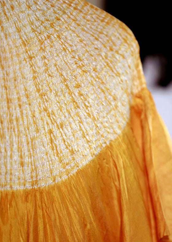 Naturally Dyed Yellow Kaftan