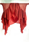 Naturally dyed madder cape