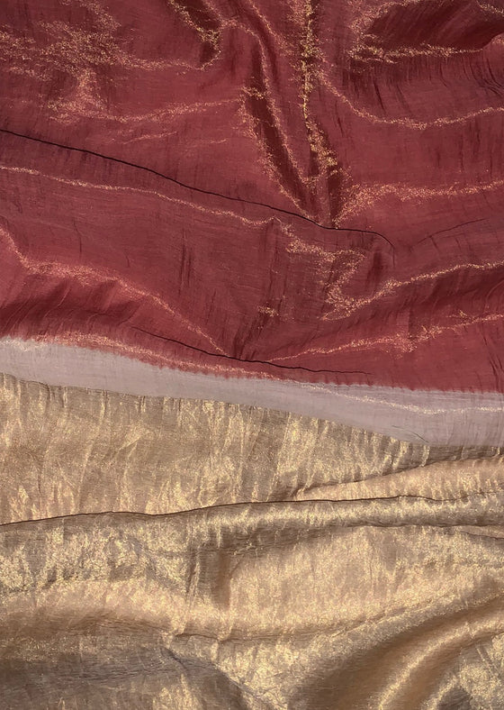 Naturally Dyed Madder Tissue Saree