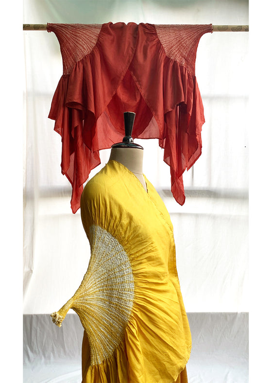 Naturally dyed yellow cape