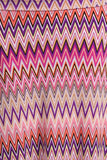 Womens Pink Chevron Striped Full Length Long Print Maxi Skirt