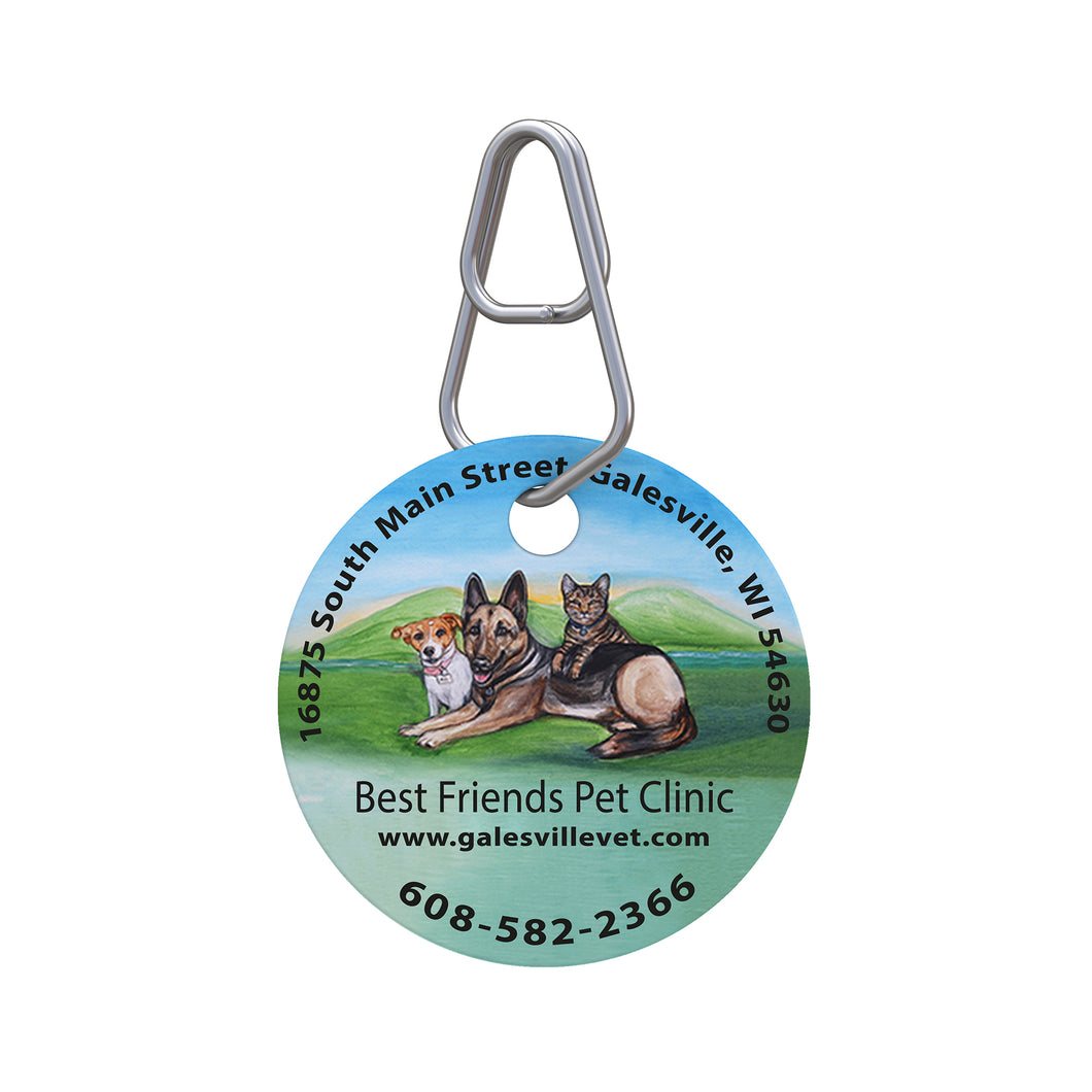 Best Friends Pet Clinic Pet ID Tag