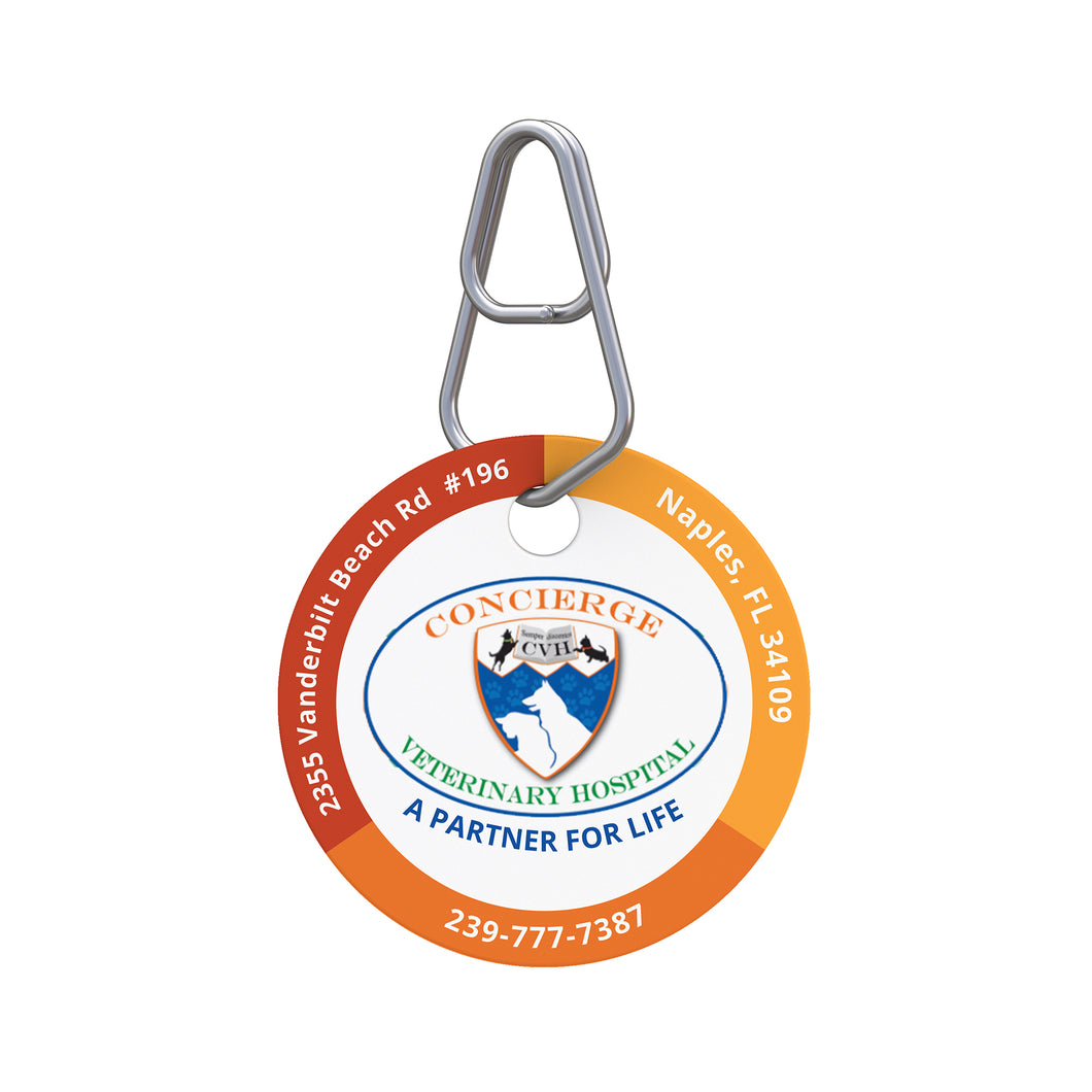 Concierge Veterinary Hospital Pet ID Tag