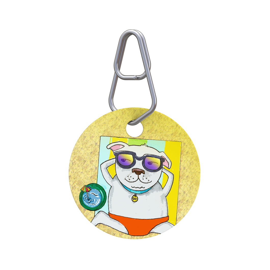 Beach Dog Pet ID Tag
