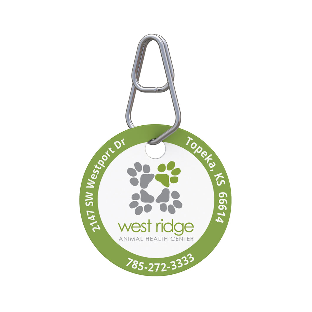 West Ridge Animal Center Pet ID Tag