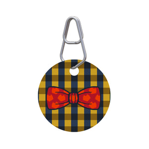Plaid Bowtie Pet ID Tag