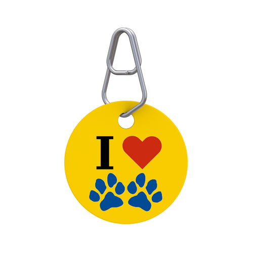 I Heart Paws Pet ID Tag