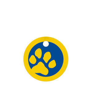 Big Paw Print Pet ID Tag