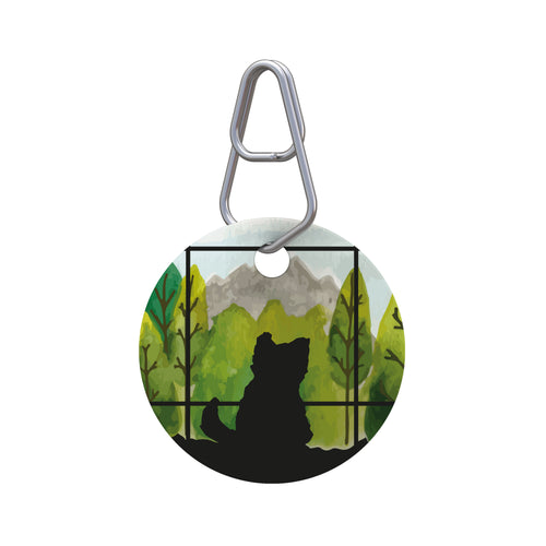 Window View Pet ID Tag