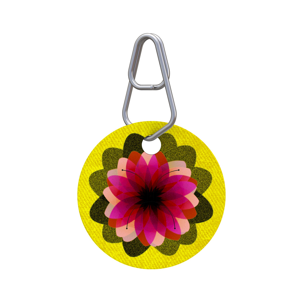 Flower Pet ID Tag