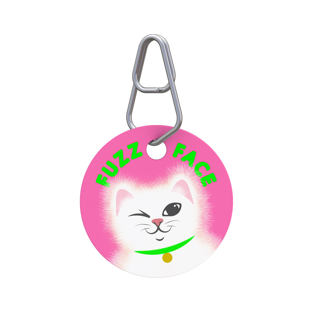Fuzz Face Pet ID Tag