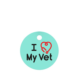 I Love My Vet Pet ID Tag