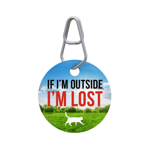 If I'm Outside Pet ID Tag
