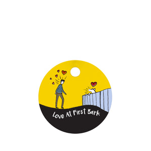 Love at First Bark Pet ID Tag