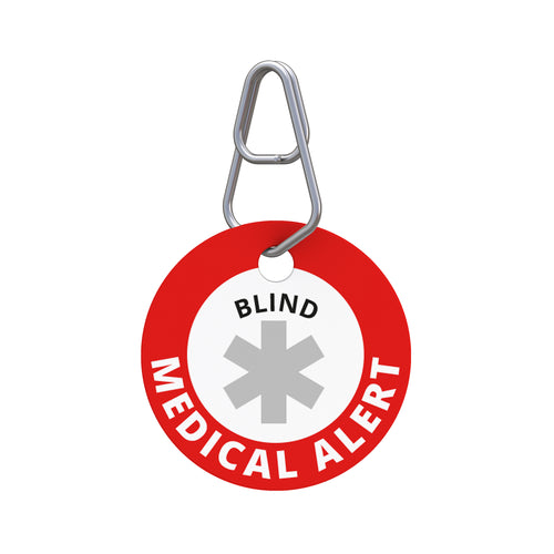 Medical Alert—Blind Pet ID Tag