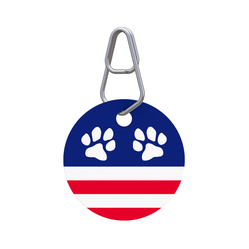 Patriotic Paw II Pet ID Tag
