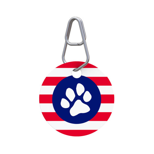 Patriotic Paw I Pet ID Tag