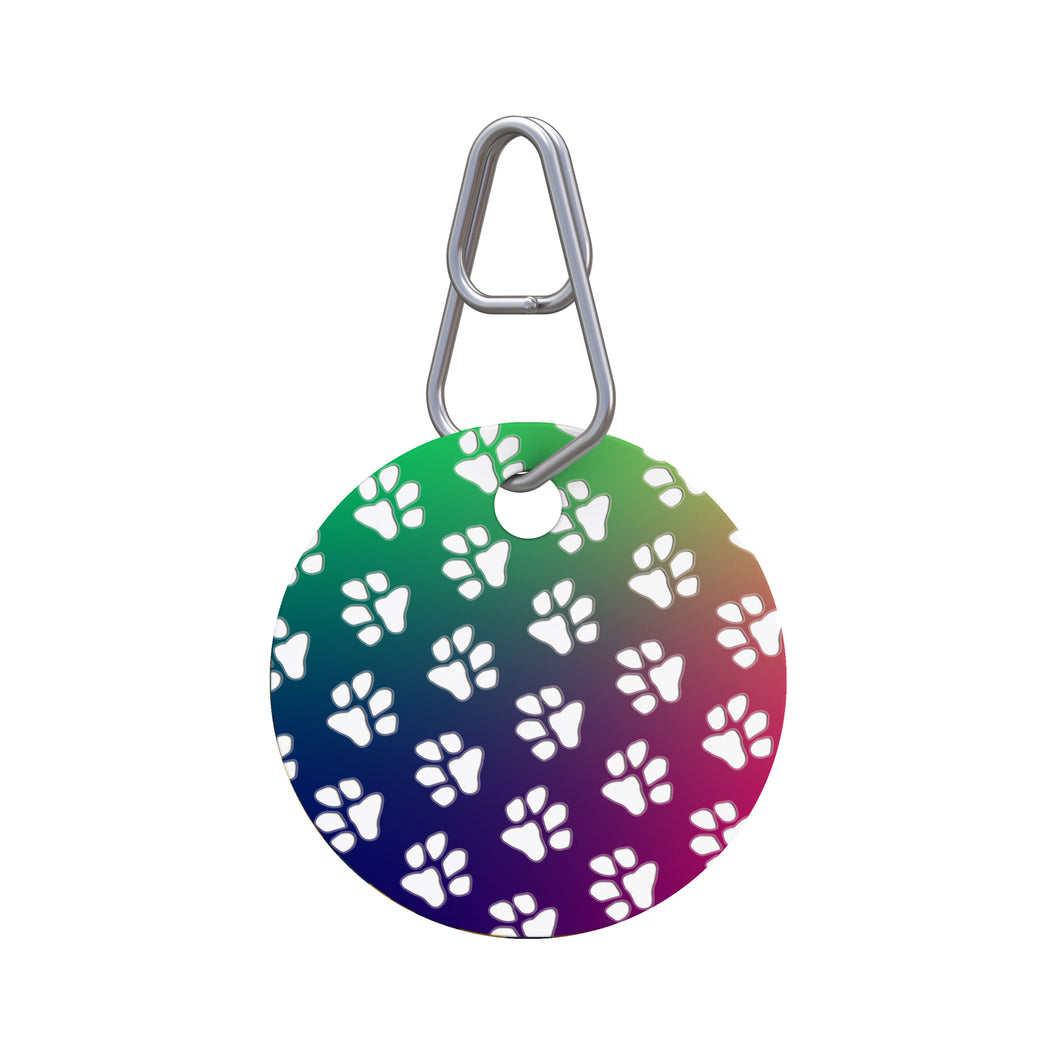 Paw Prints Pet ID Tag
