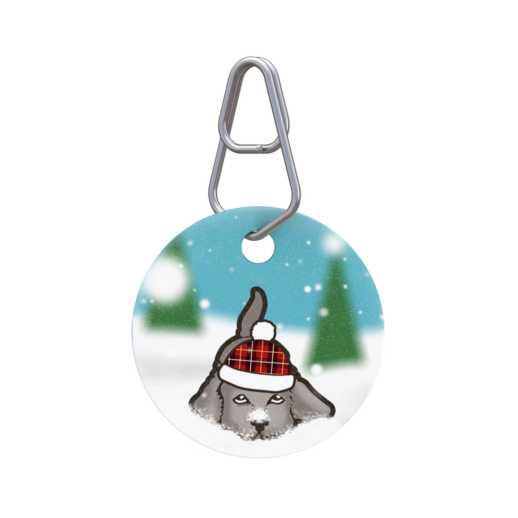 Snow Dog Pet ID Tag