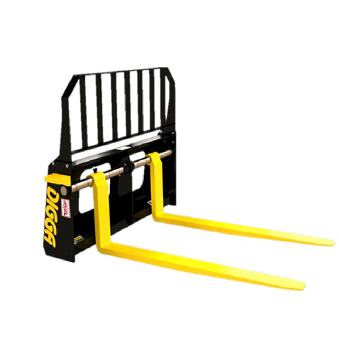 Digga Pallet Forks 1800Kg Multi Fit Skid Steer Loaders