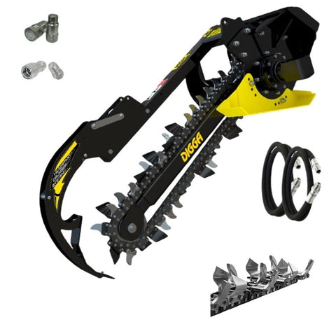 Digga Mini Loader Bigfoot Trencher 900mm