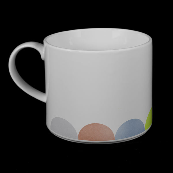 "Porcelain Mug featuring ""HalfDot"" Artwork  Porcelain Mugs- The French Press Coffee Company"